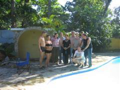 Family renting resort for celebration