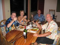 Dinner party with friends - cheers!