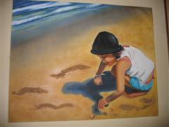 Granddaughter at beach