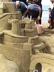 Sandcastle building in Cabarete