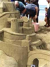 Sandcastle building in Cabarete