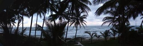 Ocean front panorama of Vecinos Beach