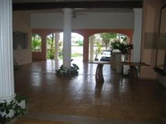 looning thru reception hall/common area to front